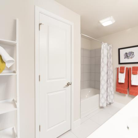 The Reserve at Coral Springs, interior, bathroom, shower/tub, closet