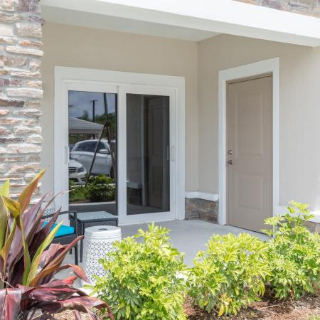 The Reserve at Coral Springs, exterior, patio, sliding glass doors