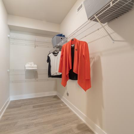 The Reserve at Coral Springs, interior, spacious walk in closet with shelving