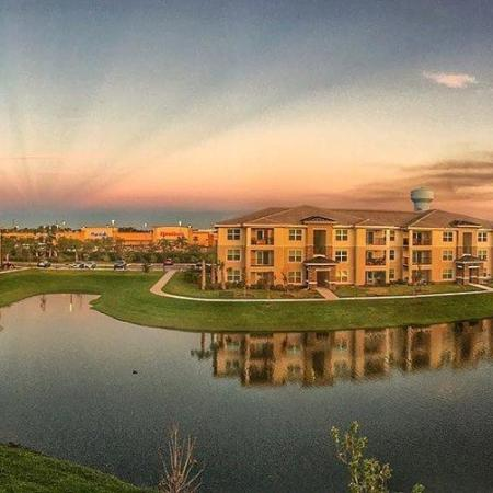 The Reserve at Vero Beach, dusk, water view, apartments, balconies