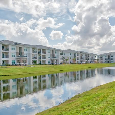 The Reserve at Vero Beach, exterior, pond, fountain, 3 buildings