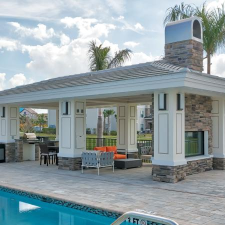 The Reserve at Vero Beach, exterior, pavilion, outdoor grills, outdoor fireplace, seating area, pool