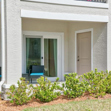 The Reserve at Vero Beach, exterior, covered patio, outdoor storage closet
