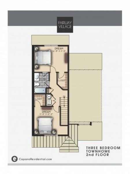 3 Bd Townhome