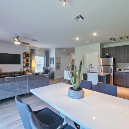 The Reserve at Coral Springs, interior, open concept dining/kitchen/living room view