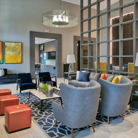 The Reserve at Coral Springs, interior, clubhouse, seating area