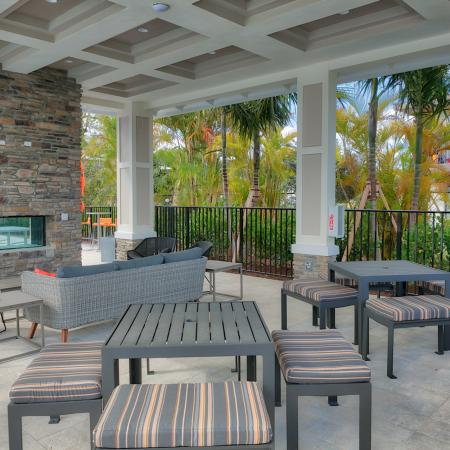 The Reserve at Coral Springs, exterior, outdoor fireplace and seating