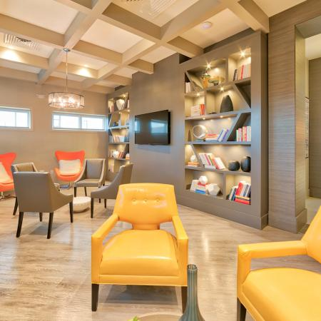 The Reserve at Coral Springs, interior, clubhouse, reading room