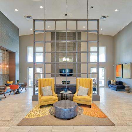 The Reserve at Coral Springs, interior, clubhouse, spacious lounge area