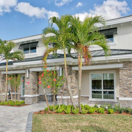 The Reserve at Coral Springs, exterior, entrance, palm trees