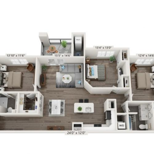 The Reserve on East 3 Bedroom