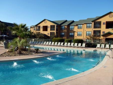 Opulent pool at Texas AM apartments