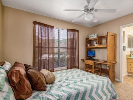 Decorated private furnished bedroom