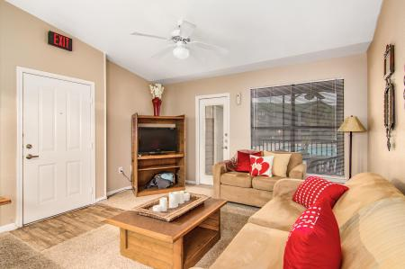 Lots of living space with great furniture included in rent!