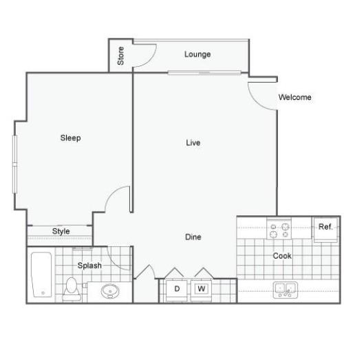 Floor Plan | The Bryant Apartment Homes