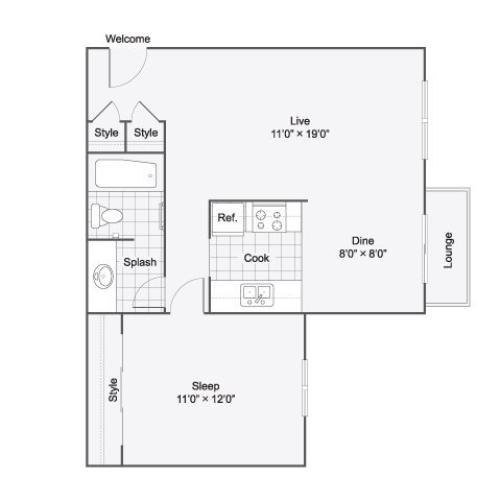 The Dylan Apartment Homes Apartments For Rent Oceanside CA 92058 Floor Plan