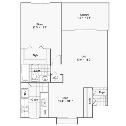 Floor Plan 1 | 100 Inverness