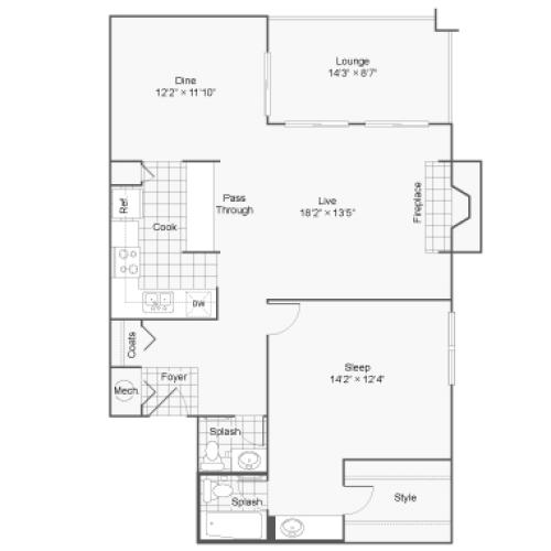 Floor Plan 2 | 100 Inverness