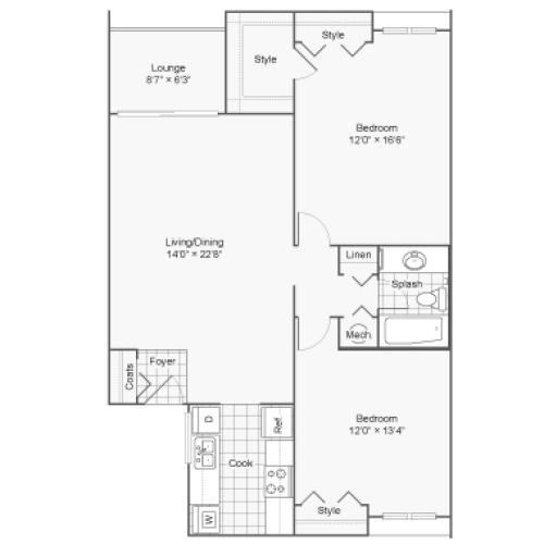 Floor Plan 3 | 100 Inverness