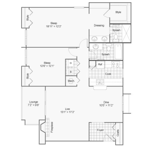 Floor Plan 6 | 100 Inverness