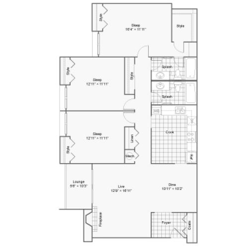 Floor Plan 8 | 100 Inverness