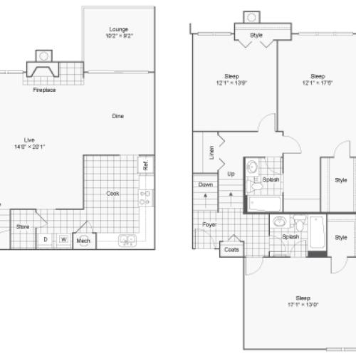 Floor Plan 10 | 100 Inverness