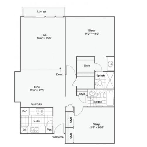 The Arlington Apartment Homes Apartments For Rent Creve Coeur MO 63146 Floor Plan