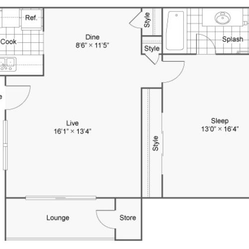 The District at Grand Terrace Apartments For Rent Colton CA 92324 Floor Plan