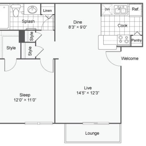 Grammercy Apartment Homes Apartments For Rent Denver CO 80231 Floor Plan