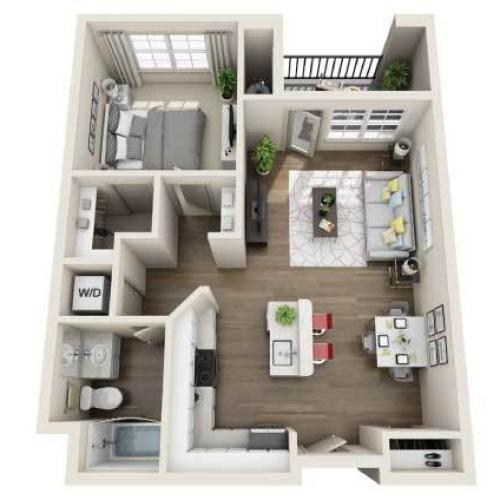 Floor Plan Images | Arrive Los Carneros Apartments For Rent Goleta CA 93117
