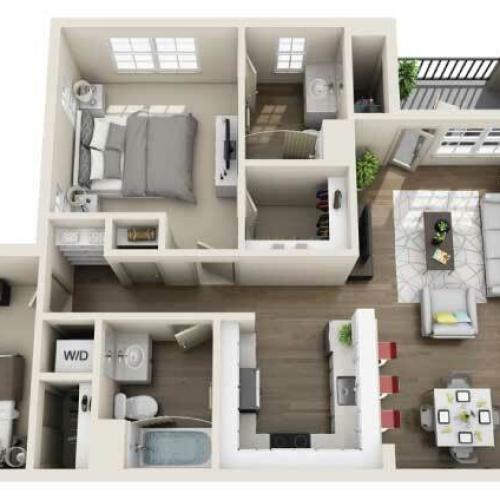 The Apartments at Los Carneros Apartments For Rent Goleta CA 93117 Floor Plan