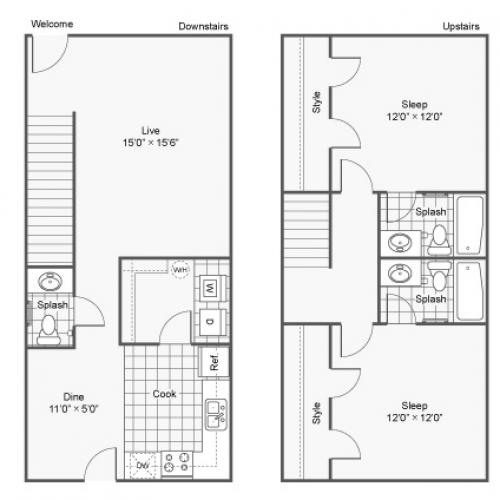 Mississippi State University Apartments Starkville | The Block Townhomes