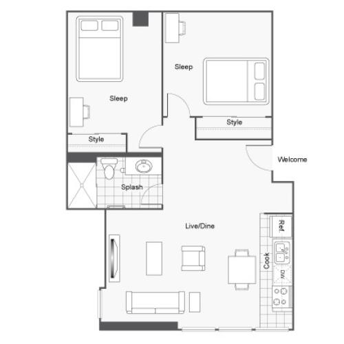 The Icon Student Housing St Louis MO 63103 Floor Plan