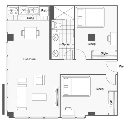Icon Student Spaces Student Housing St Louis MO 63103 Floor Plan
