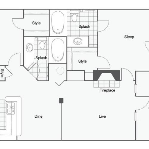 Floor Plan 6 | Apartments In Atlanta | Arrive Perimeter