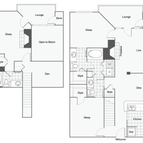 Floor Plan 9 | Atlanta Apartments | Arrive Perimeter