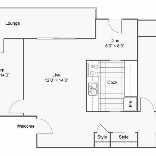 The Atwood @ Eden Prairie Apartment Homes Apartments For Rent Eden Prairie MN Floor Plan