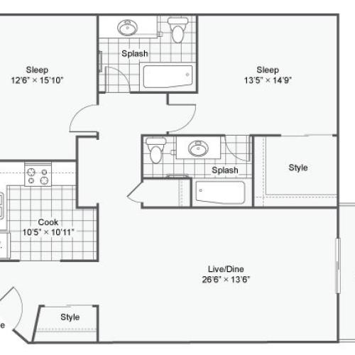 The Atwood @ Eden Prairie Apartment Homes Apartments For Rent Eden Prairie MN Floor Plan
