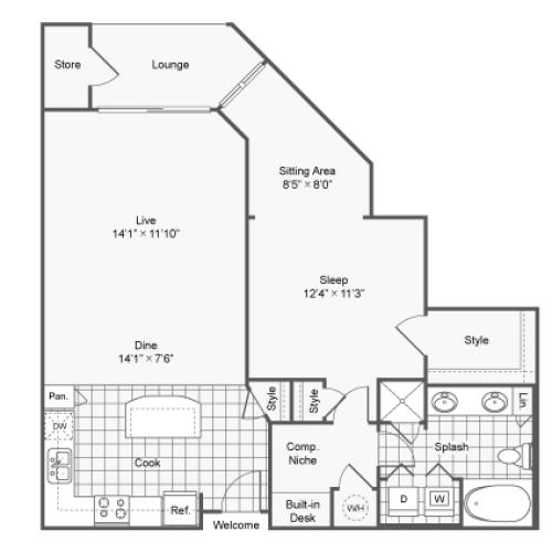 Floor Plan 4 | Apartments Brookhaven GA | TwentyNine24 Brookhaven