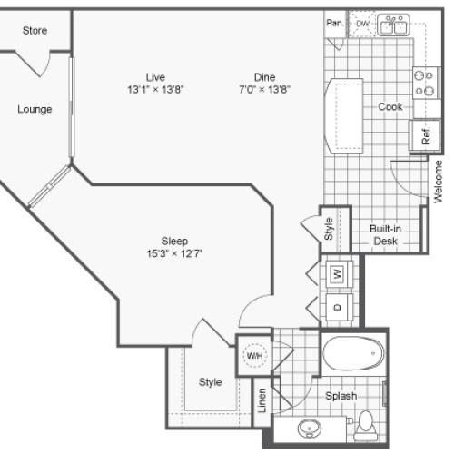 Floor Plan 5 | Apartments In Brookhaven Georgia | TwentyNine24 Brookhaven