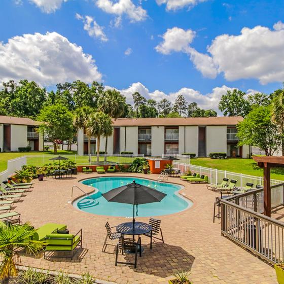 The Hub at Tallahassee Apartment Homes | Student Housing for Rent | Tallahassee FL 32304 | Pool Area
