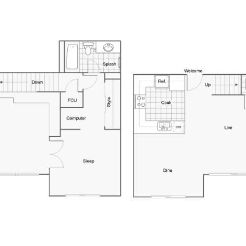 Floor Plan 6 | San Diego Apartments | Arrive Mission Valley