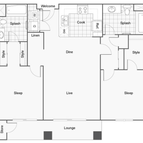 Floor Plan 9 | Apartments For Rent In San Diego | Arrive Mission Valley
