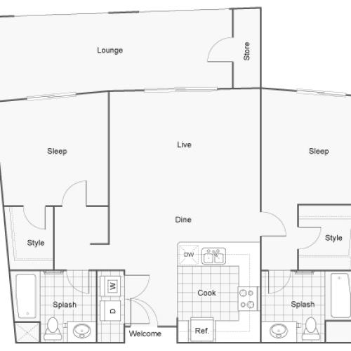Floor Plan 10 | Apartments In San Diego | Arrive Mission Valley