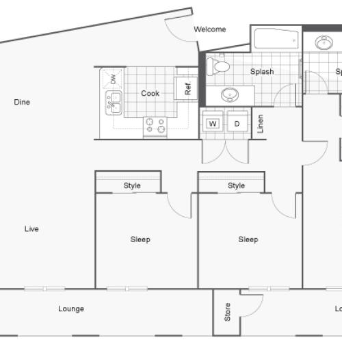 Floor Plan 16 | San Diego Apartments | Arrive Mission Valley