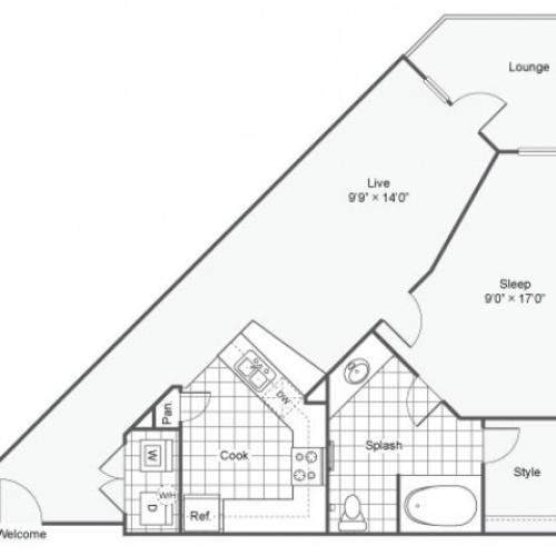 Floor Plan 2 | Apartments Downtown Dallas TX | Arrive West End