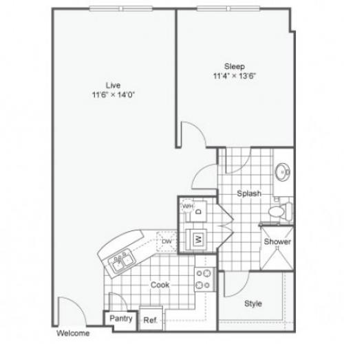 Floor Plan 7 | Apartments Downtown Dallas TX | Arrive West End