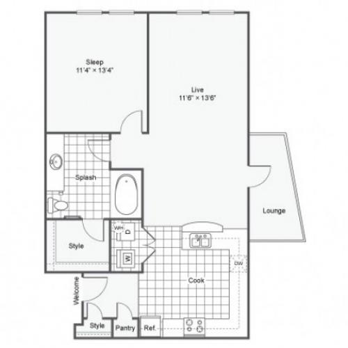 Floor Plan 11 | Luxury Downtown Dallas Apartments | Arrive West End