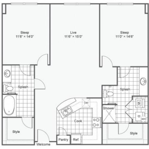 Floor Plan 18 | Downtown Dallas Apartments | Arrive West End