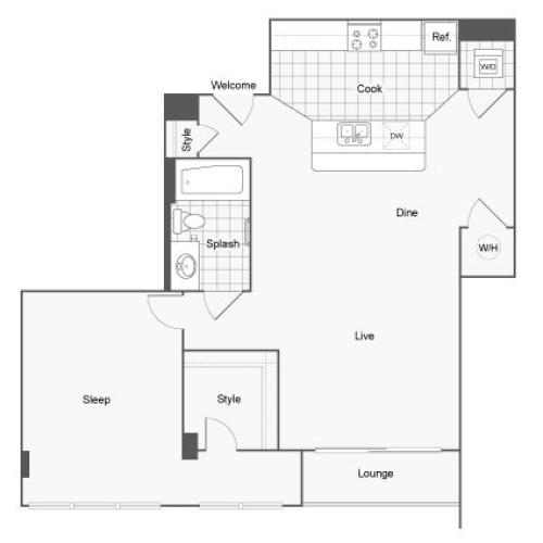 Floor Plan 3 | GSU Apartments | Dwell ATL